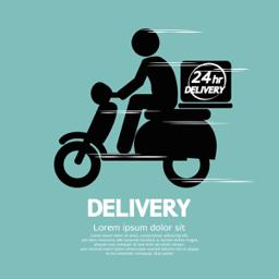 Motor bike delivery job at a Restaurant